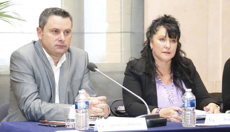 Jean-Paul Camerano et Brigitte Vidal ont fait leurs premiers pas dans l'opposition.