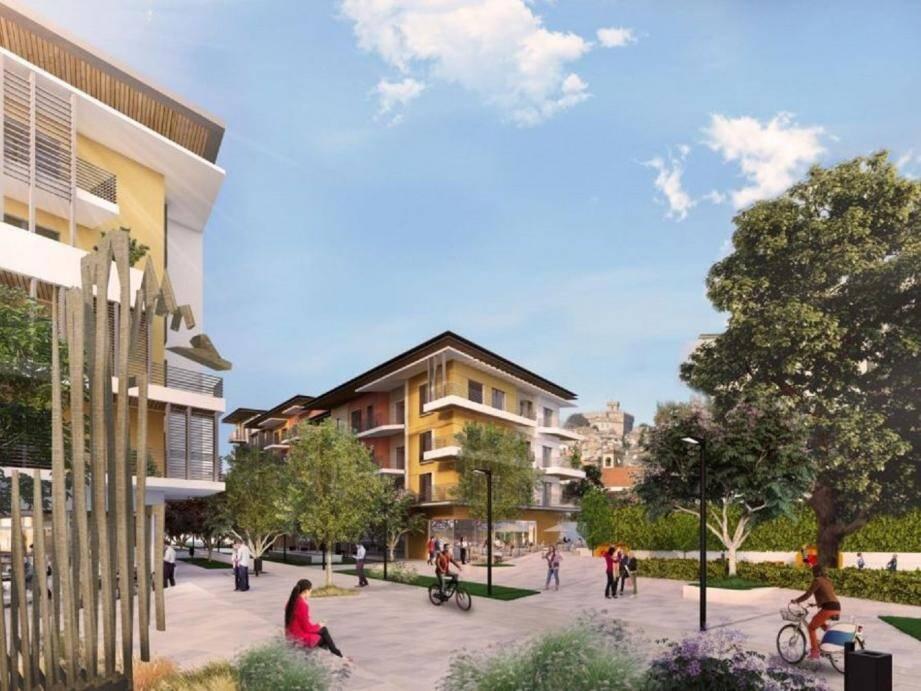 Un visuel montrant ce que devrait être l'écoquartier de la Villette à la fin du chantier en 2023.(DR)