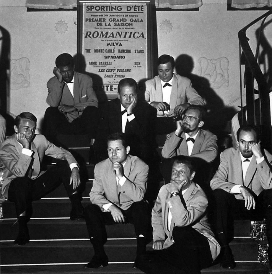 L'orchestre du Sporting d'été, Louis Frosio et ses musiciens (1961).(© Archives Monte-Carlo SBM)