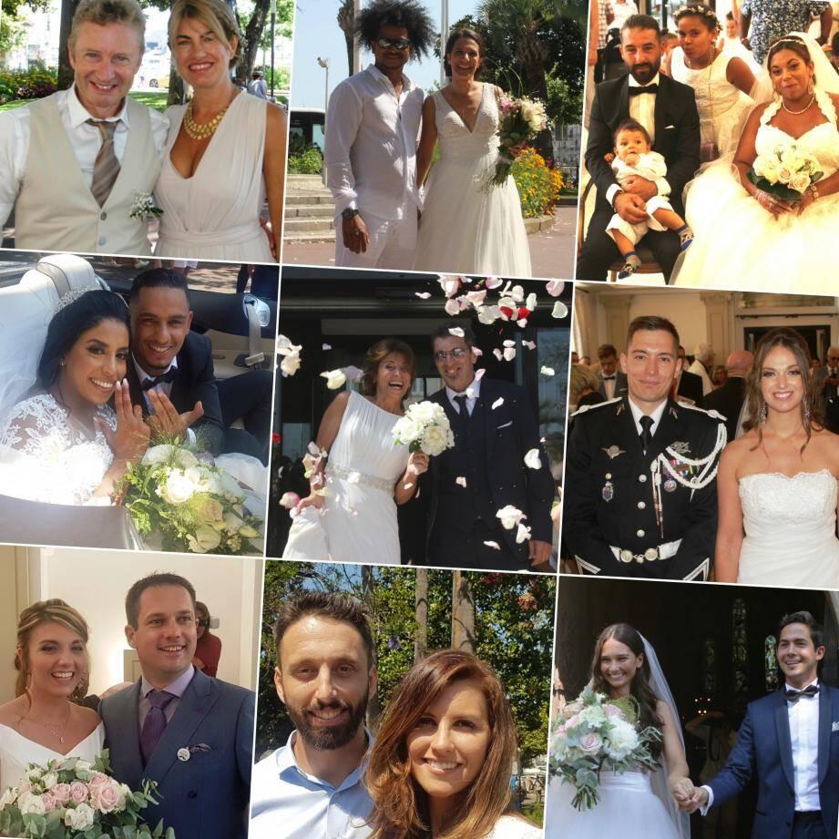 Les mariés du week-end à Cannes.