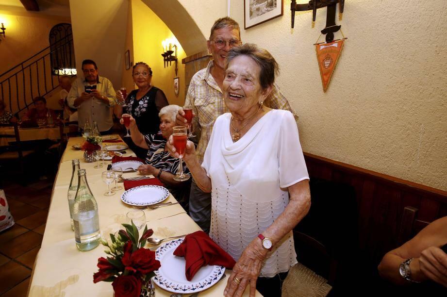 Un repas d'anniversaire a été organisé, ce jeudi midi, au restaurant L'Aurore à Monaco-Ville.