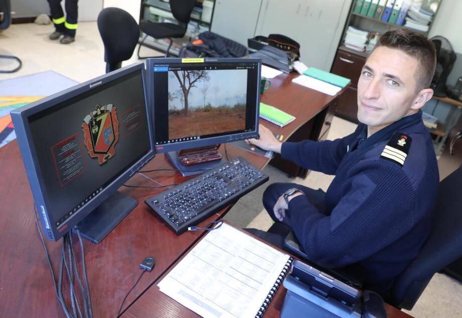 Pour sa première mission sur une intervention de grand incendie, le capitaine Sylvain a commandé le petit détachement spécialisé dans les drones, déployé le mois dernier en Bolivie.