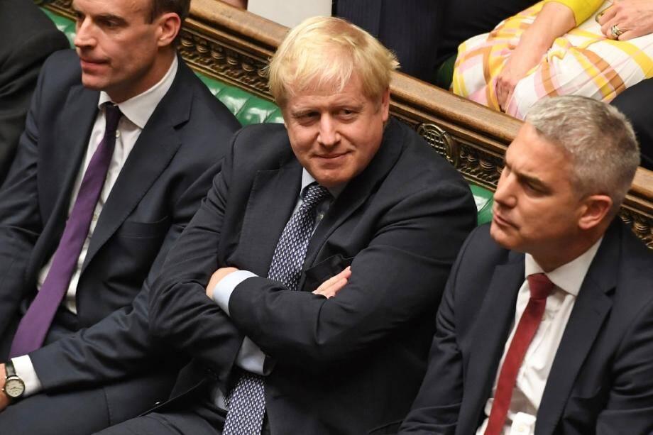 Le Premier ministre britannique Boris Johnson à la Chambre des communes lors d'un débat sur le Brexit, le 19 octobre 2019 à Londres