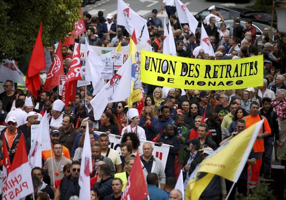 D'après la police, ils étaient 670 à manifester, ce jeudi, dans les rues de Monaco.