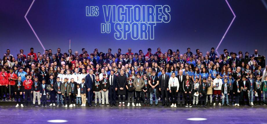 Une partie de ce que Nice a compté, l'an dernier, comme champions de France… Photos Cyril Dodergny