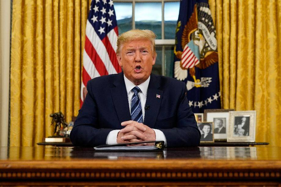 Le président américain Donald Trump s'adresse à la nation depuios la Maison Blanche, le 11 mars 2020