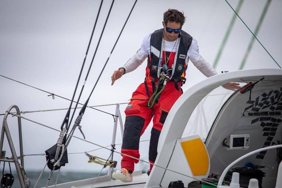 Le skipper varois n'aura pas été épargné par les tracas lors de cette Vendée Arctique les Sables d'Olonne. Mais il a tenu le choc!