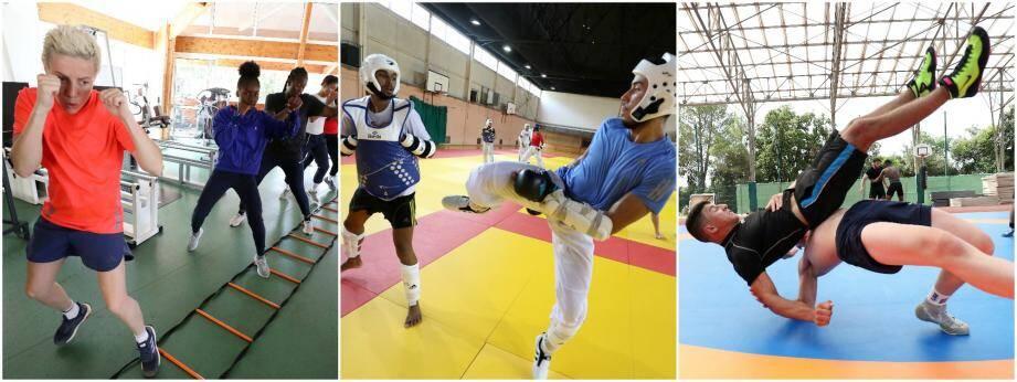 Les athlètes présents au Creps de Boulouris.