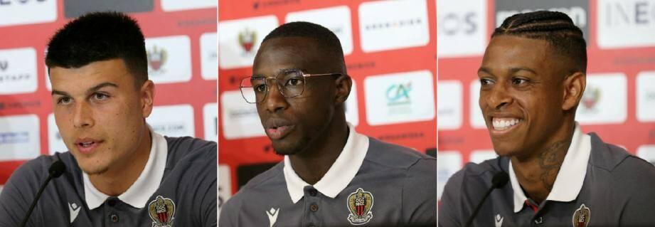 Flavius Daniliuc, Hassane Kamara et Robson Bambu se sont présentés à la presse, ce jeudi