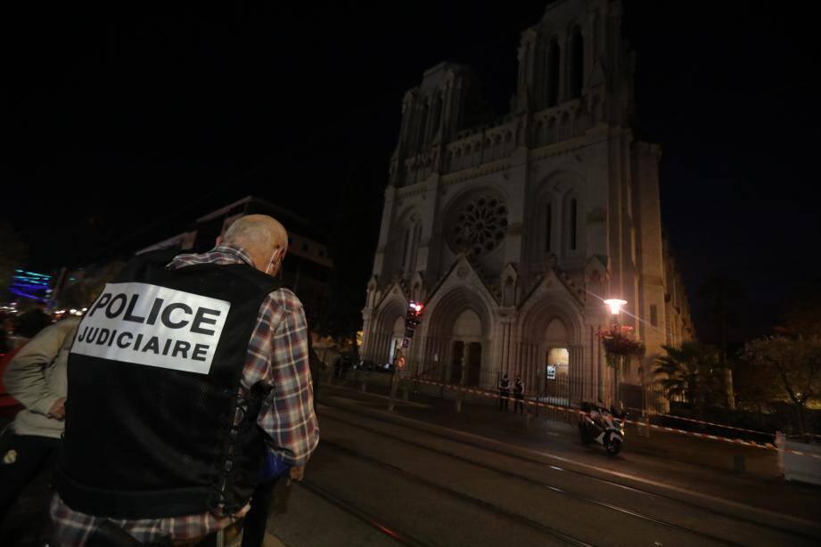 L'église Notre-Dame, jeudi soir.