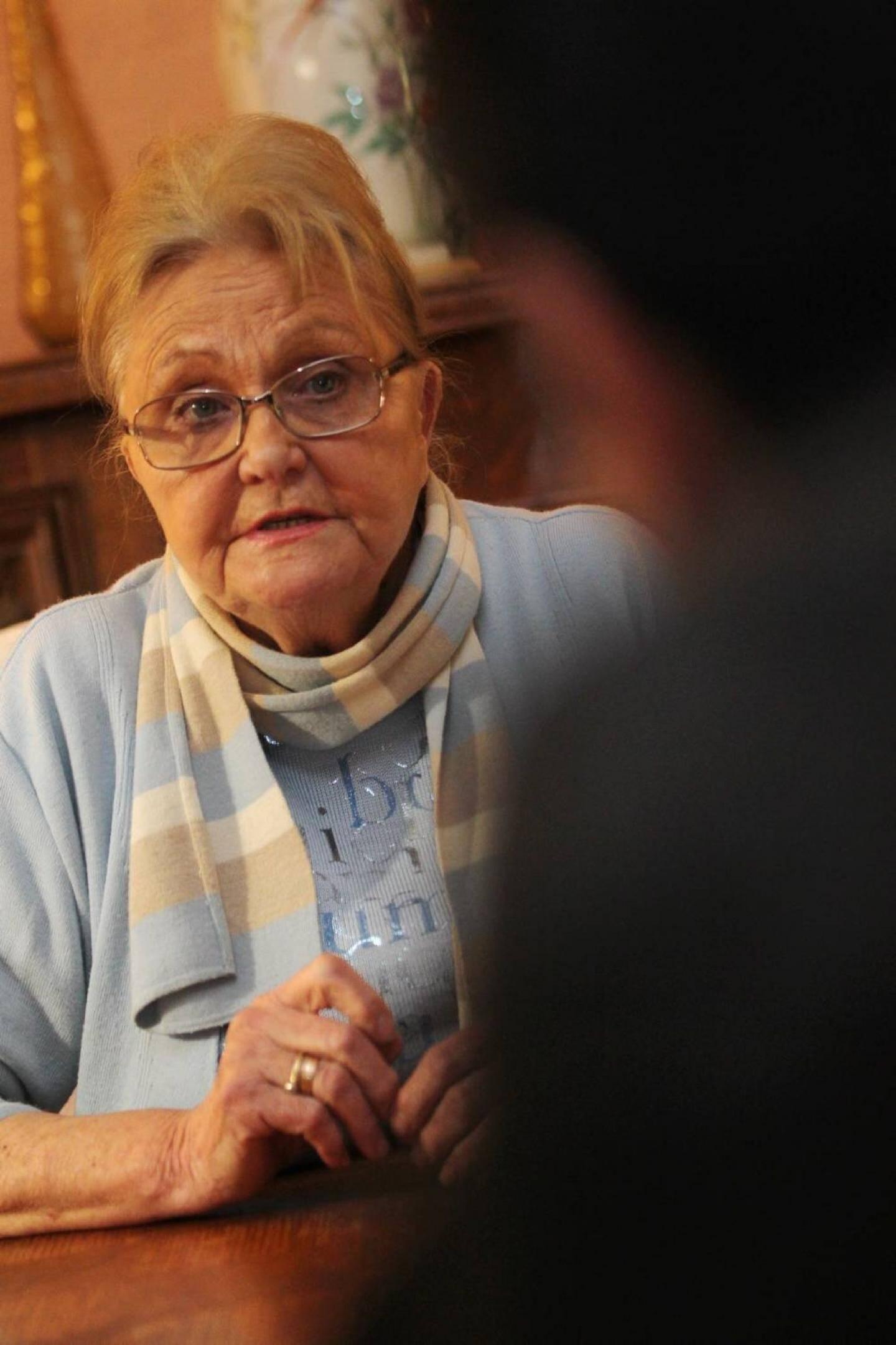 Luce Ferron, 73 ans, compte sur Marine Le Pen pour défendre l'identité française.