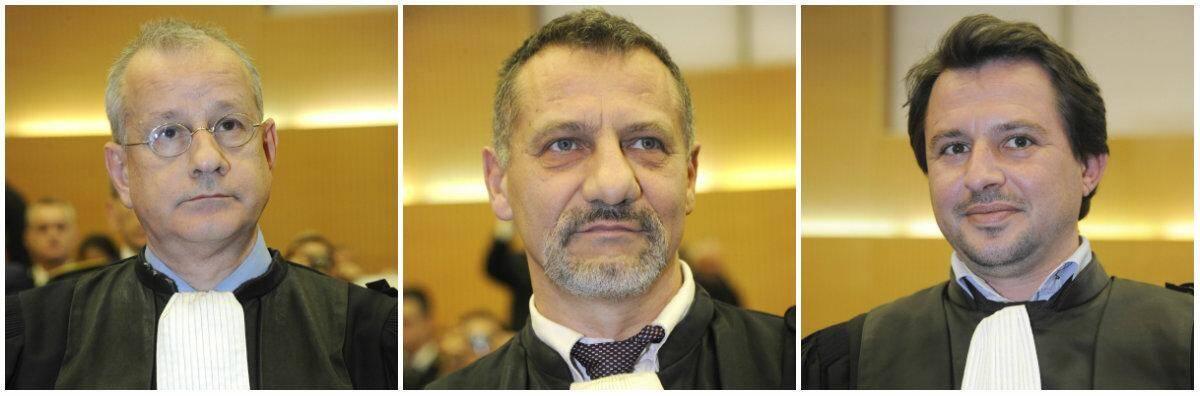 De gauche à droite : Mario Agnetta, vice-président ;  Alain Guimbard, procureur adjoint et Julien Pronier, substitut du procureur