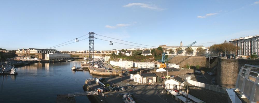 Le téléphérique de Brest - image de synthèse.