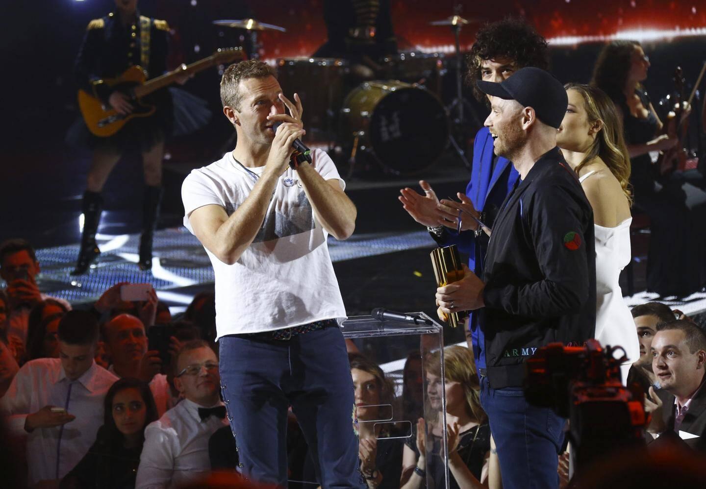 Ceremonie des NRJ Music Awards, le samedi 12 novembre 2016 au Palais des festivals de Cannes.Coldplay
