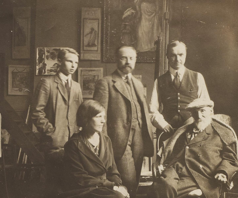 Henri Matisse rend visite à Auguste Renoir, à Cagnes-sur-Mer.