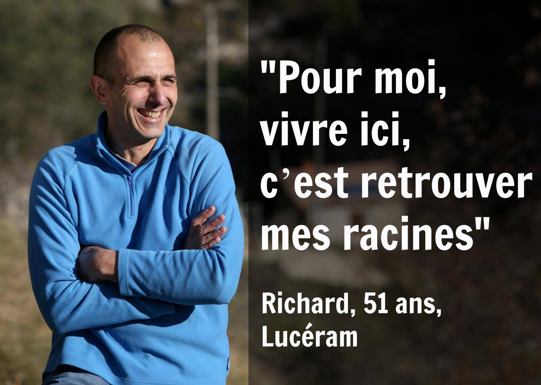 Richard habite à Lucéram et travaille au CTA de Saint-Isidore