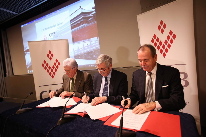 Accord conclu et signé hier soir, entre les présidents de la CMB et du Grimaldi Forum.