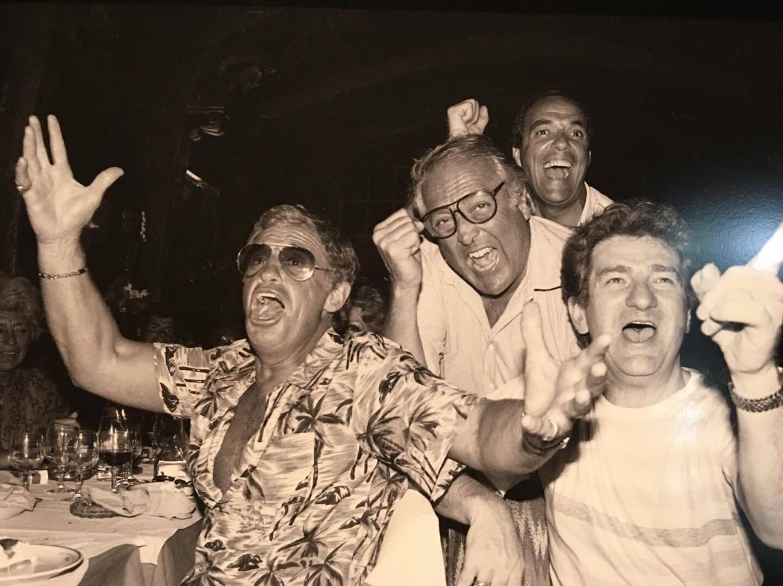 Belmondo, Georges Lautner et Eddy Mitchell.