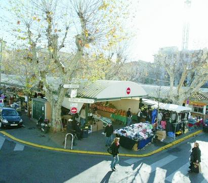 Le marché Gambetta.