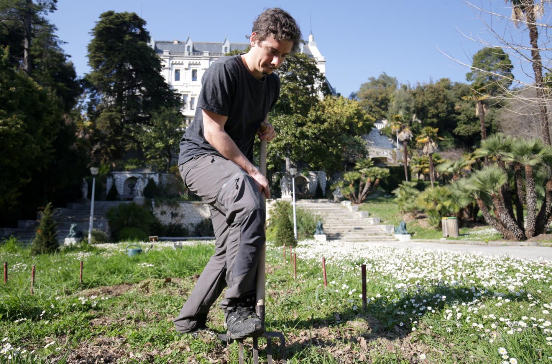 """Gabriel: """"on a produit plusieurs cagettes de courgettes, celeris... l'année dernière."""""""