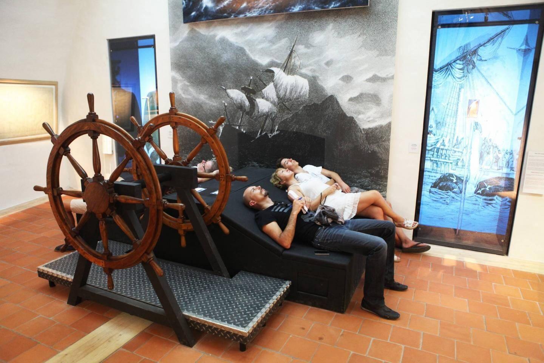 SAINT-TROPEZ, le 18/08/2013, allez-y à au musée de la citadelle.papier Laurent AMALRIC