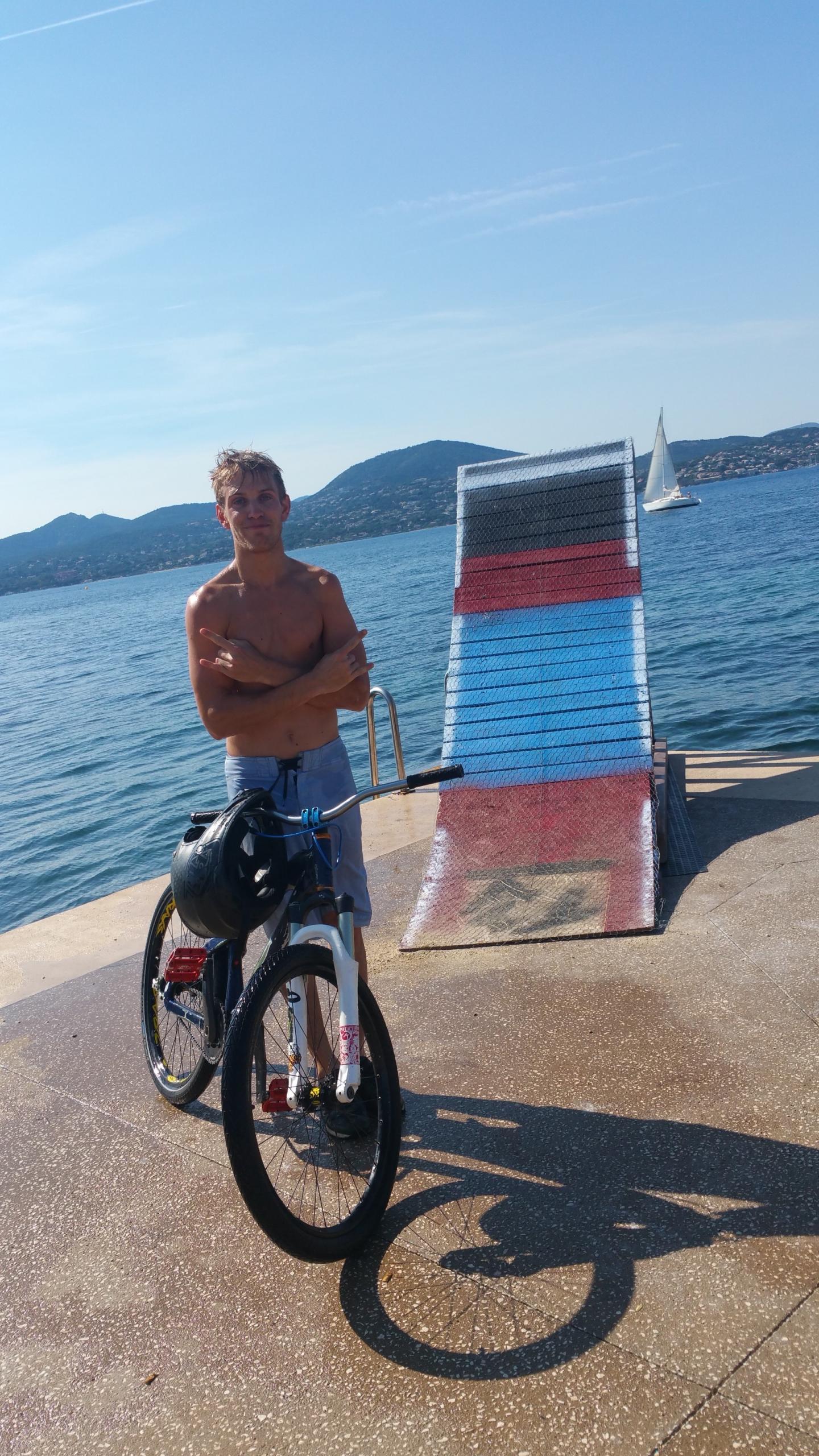 Christopher Dufroy s'entraîne à Saint-Tropez pour sa prochaine compétition