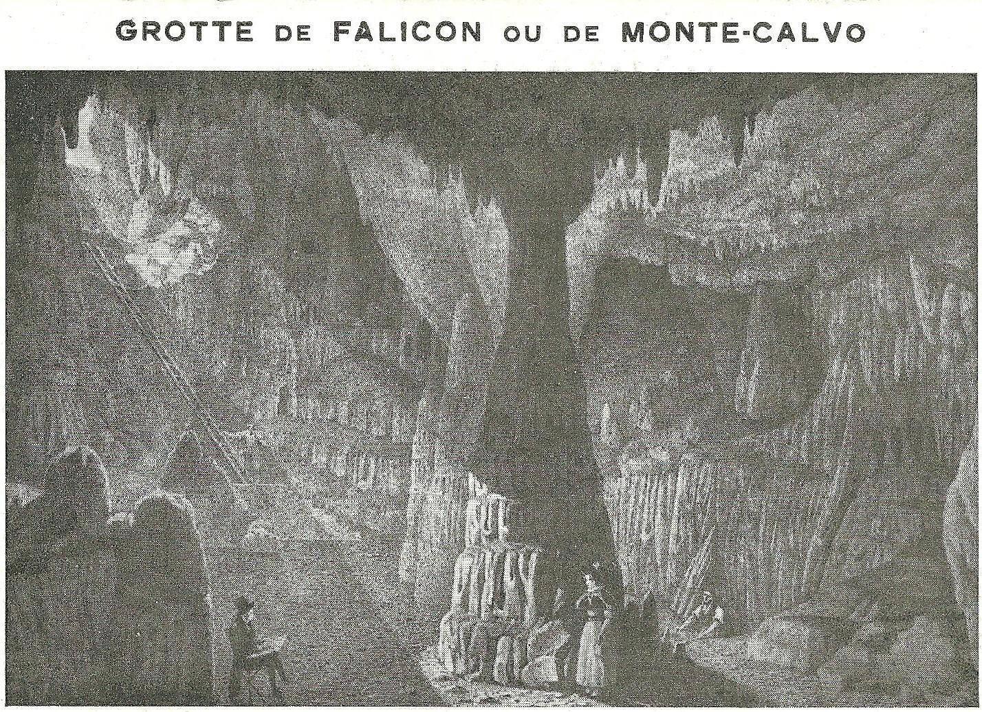 Grotte des Ratapignata, encore appelée de Falicon ou de Monte calvo (Mont chauve), sans doute extraite de Domenico Rossetti, La grotta di Monte Calvo, 1804