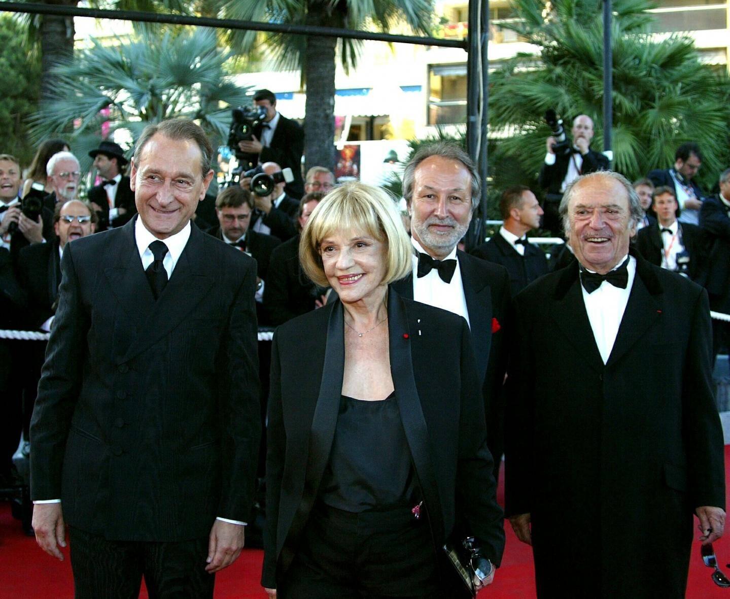 Jeanne Moreau au Festival de Cannes avec Bertrand Delanoë.