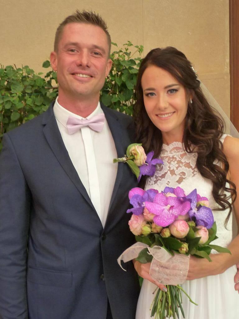 Frédéric Maglott, policier, et Yuliya Yukhacheva, étudiante.