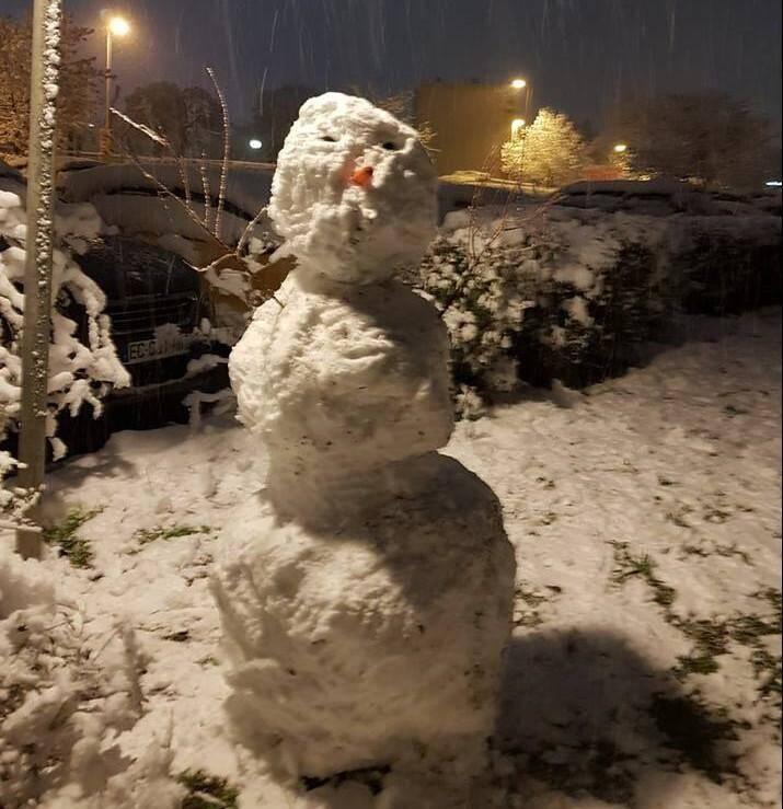 Un bonhomme de neige à Draguignan.