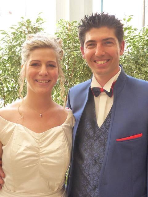 Marie Desnoyers, secrétaire, et Cédric Fornari, jardinier.