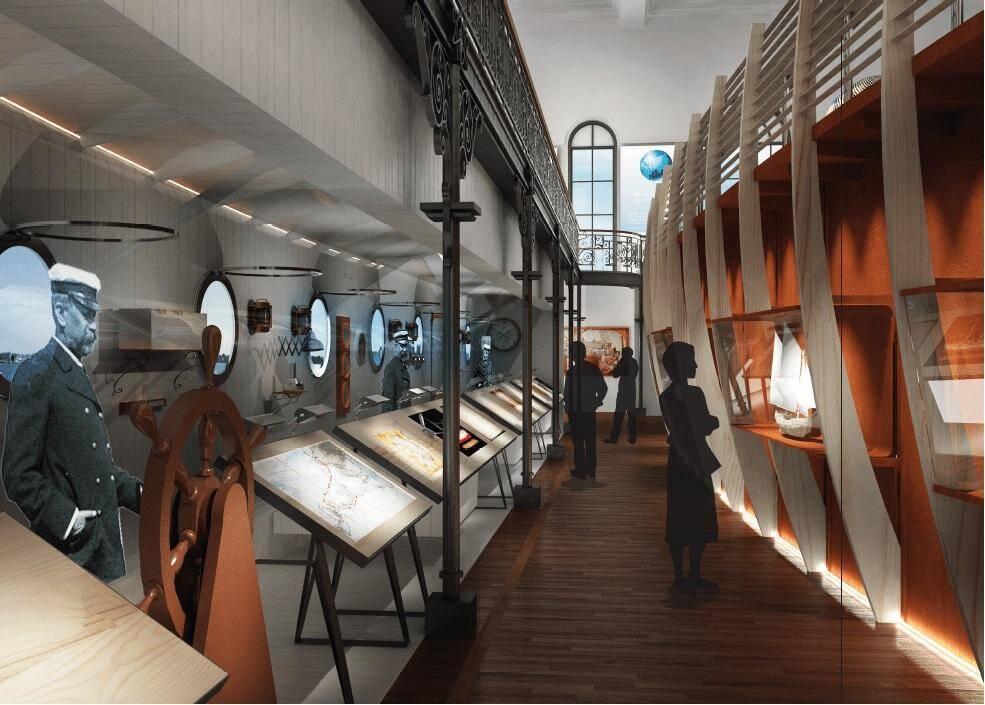 Une nouvelle salle au Musée océanographique.