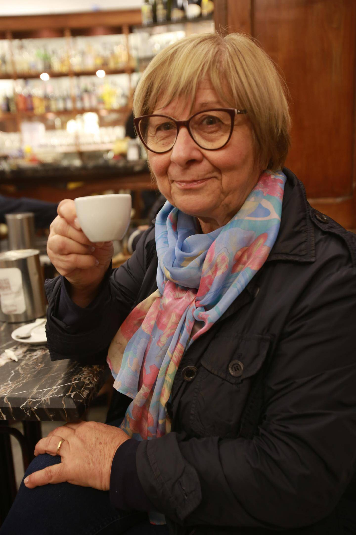 """Marcia, retraitée: """"la ville s'est embellie, elle a su profiter de l'engouement de la slow food qui attire de nombreux touristes."""""""