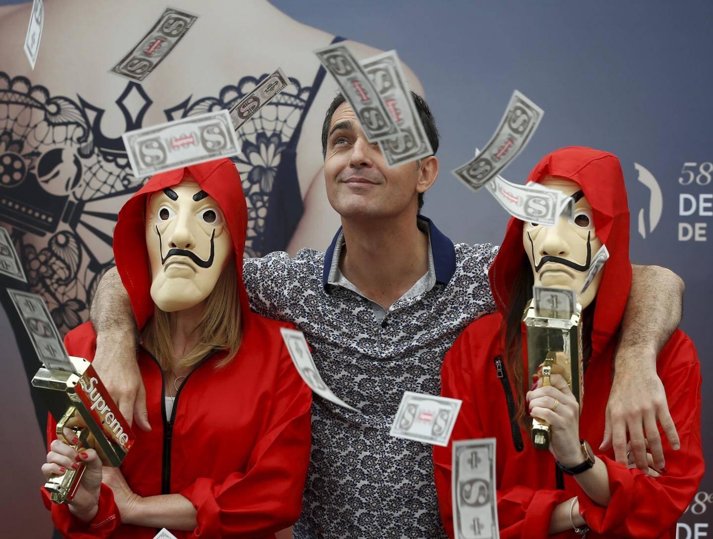19 juin : casse de l'année pour Pedro Alonso alias Berlin de la série La Casa de papel, au Festival télé.