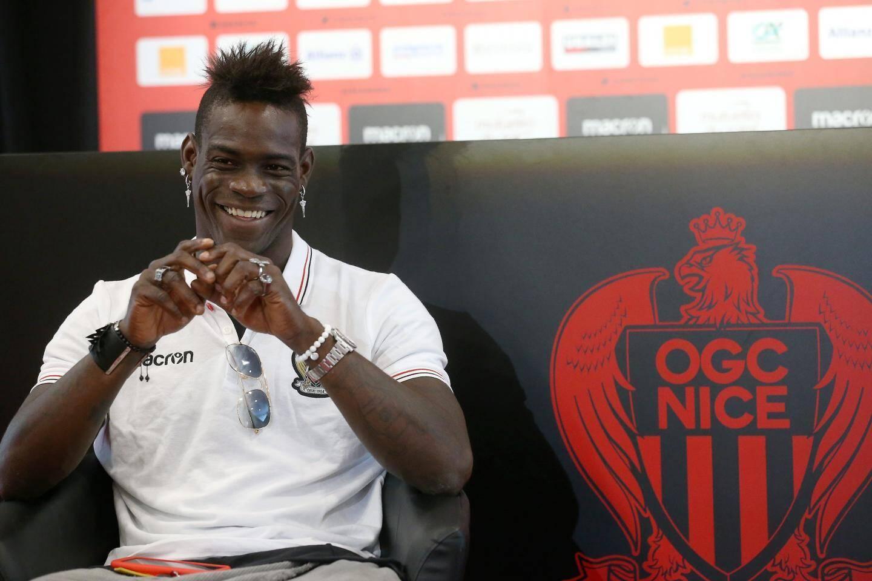 Mario Balotelli a reçu Nice-Matin au centre d'entraînement.