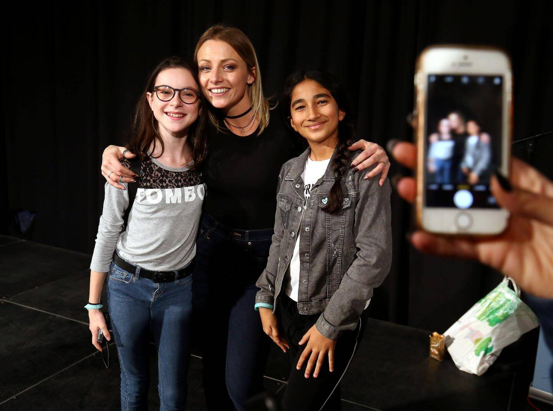 La Youtubeuse Roxane lors de la 1ère rencontre des youtubeurs organisée au Palais de l'Europe.