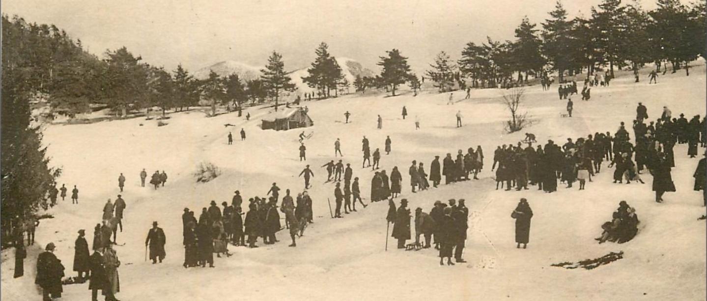 La station de ski de Peira Cava fut la première ouverte dans les Alpes-Maritimes au début du XXe