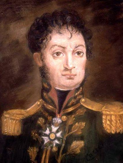 Le général Cambronne, chargé de constituer la troupe d'avant-garde.
