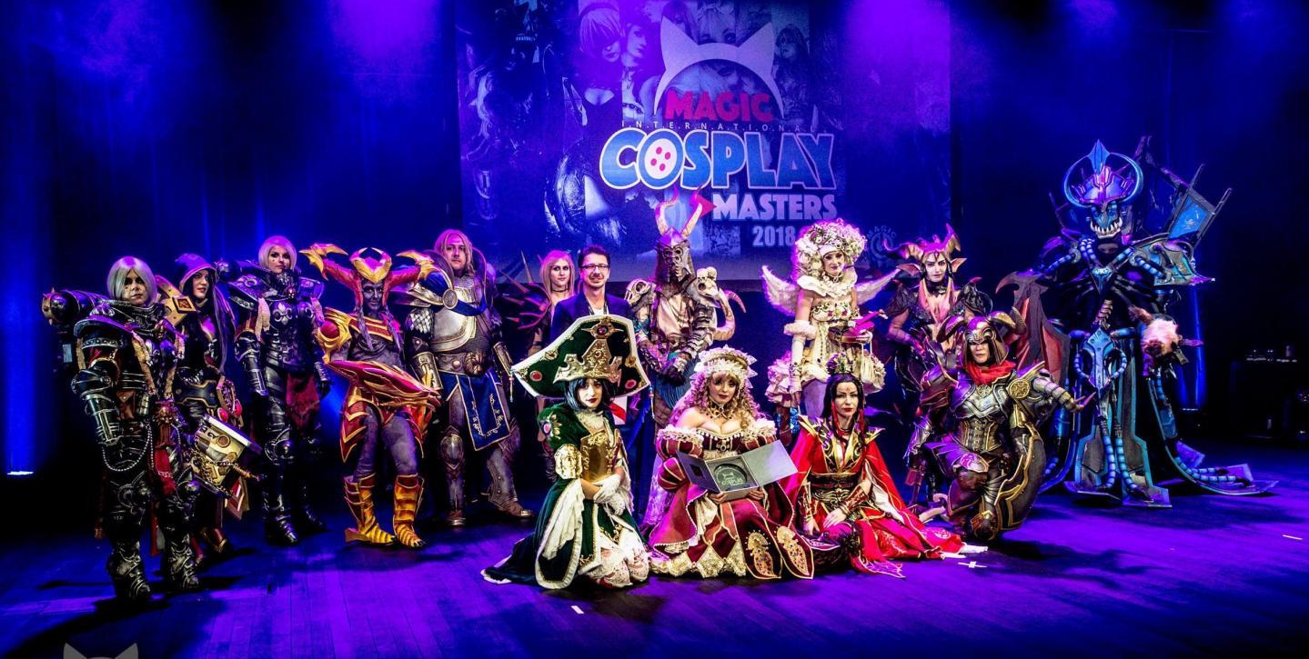 Les cosplayeurs lors du concours international Magic de 2018.