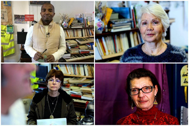 Ibrahima, Jackie, Nicole et Nadège des citoyens motivés.