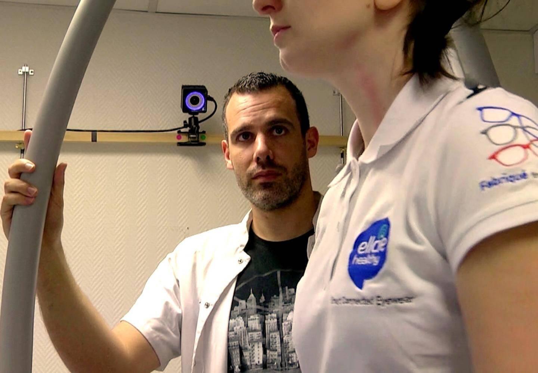 """Frédéric Chorin, responsable de plateforme fragilité à l'hôpital de Cimiez (CHU de Nice):""""dans une journée on se lève en moyenne une quarantaine de fois."""""""
