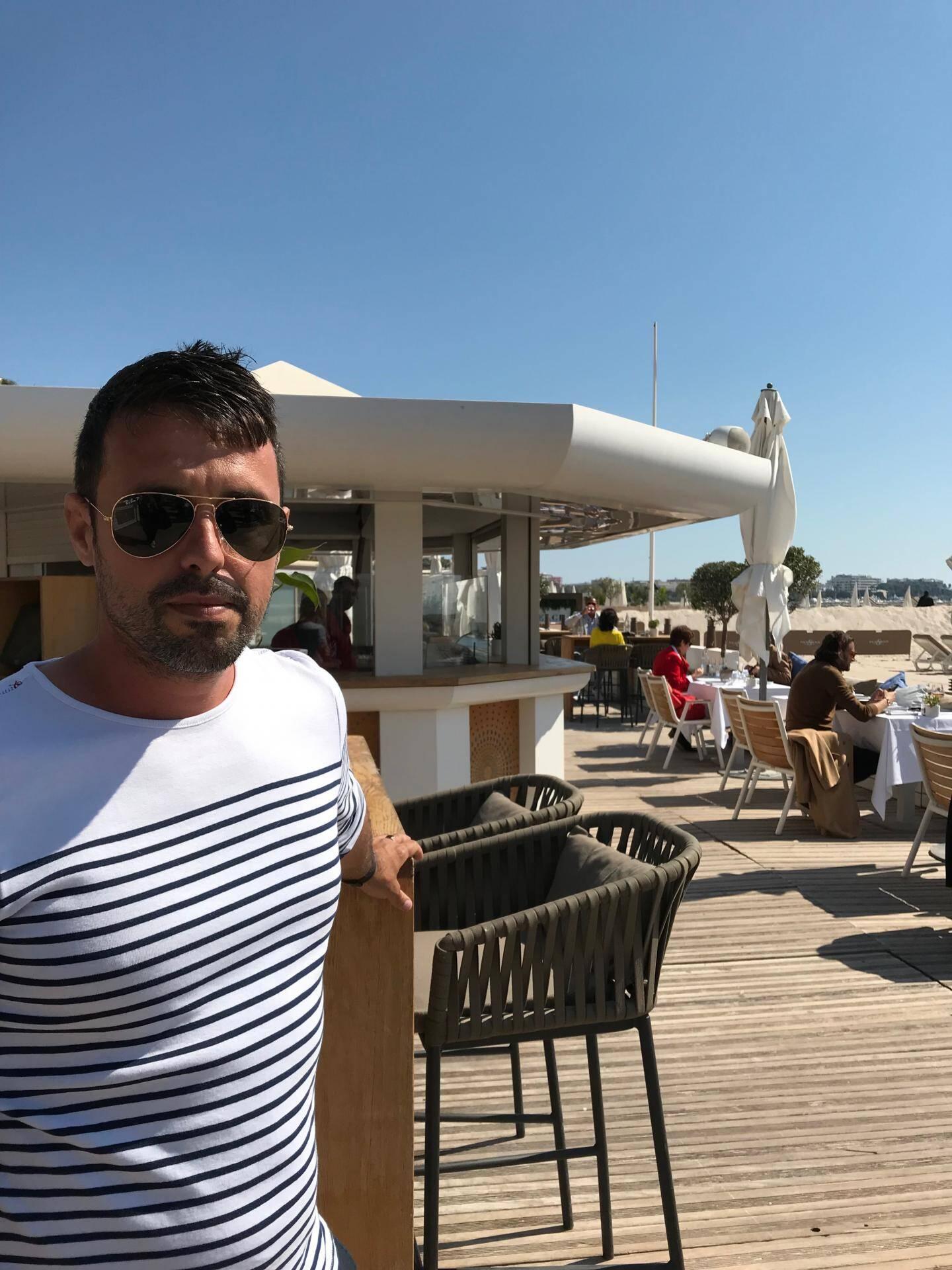 Cédric Parras de la plage du Miramar.