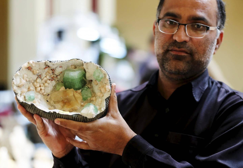 La pierre calcite d'Inde d'Aziz Bahoo