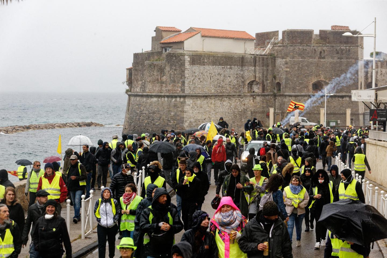 Les parapluies étaient de sortie pour cette manifestation, notamment  lors de l'arrivée du cortège au Mourillon.