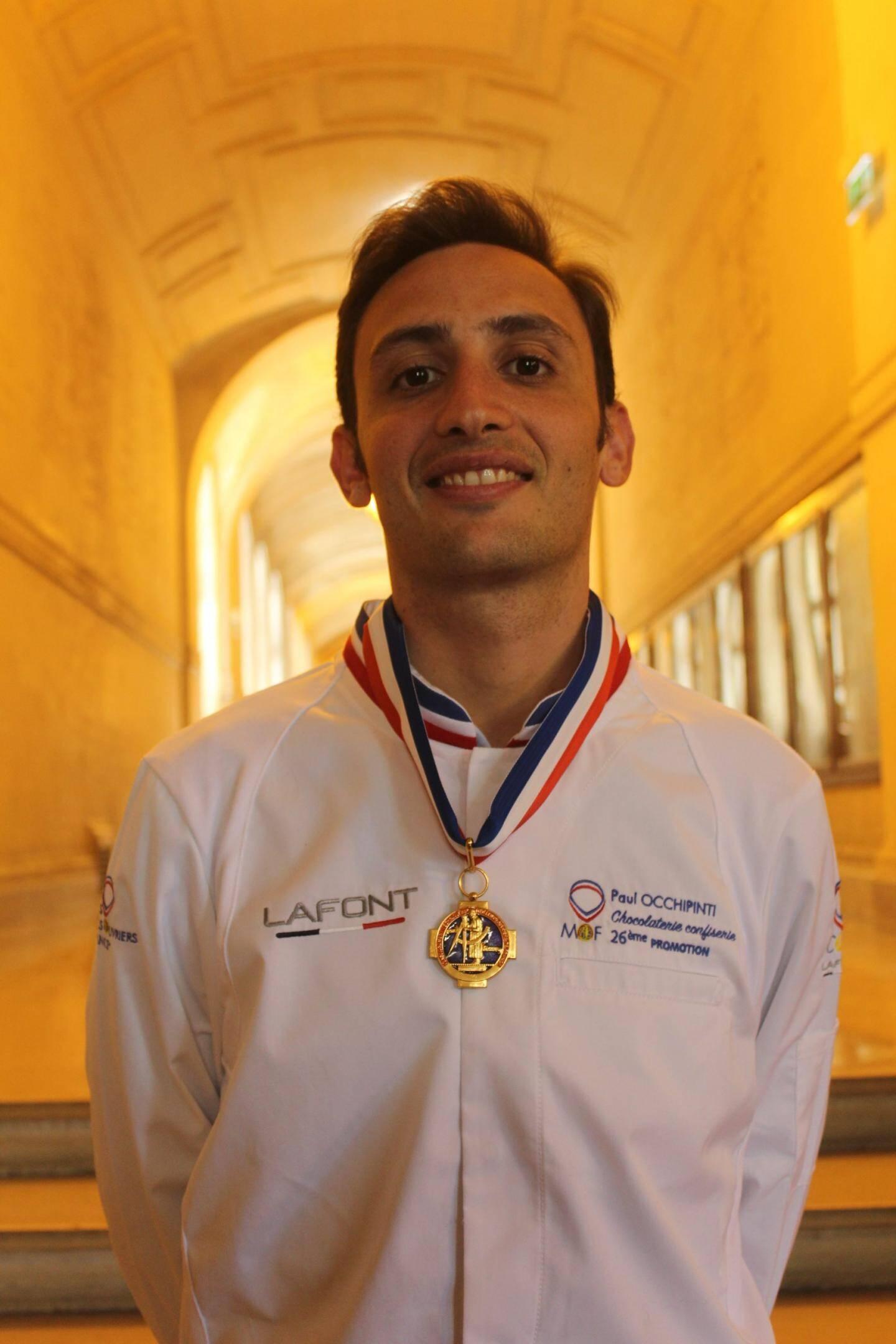Paul Occhipinti, sous-chef pâtissier à l'hôtel Eden Roc du cap d'Antibes, Mof chocolatier confiserie.