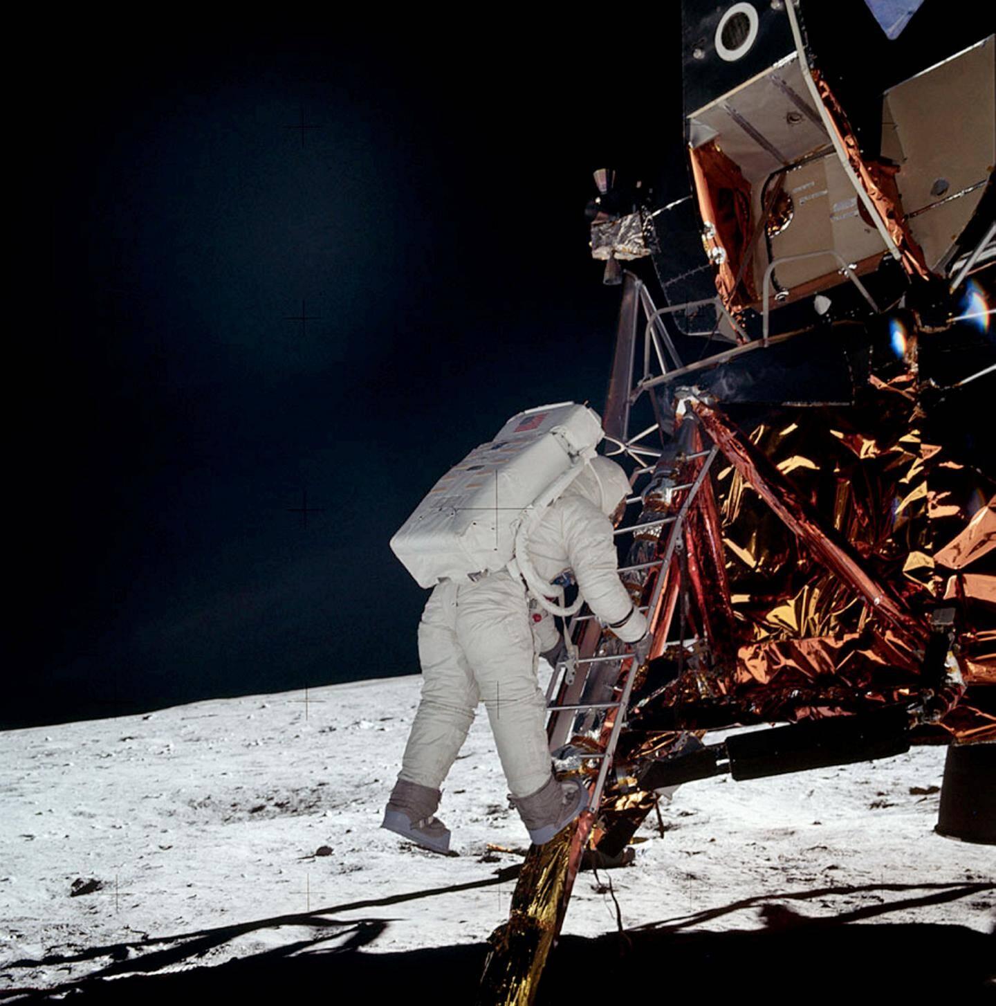 Edwin « Buzz » Aldrin, photographié par Neil Armstrong.
