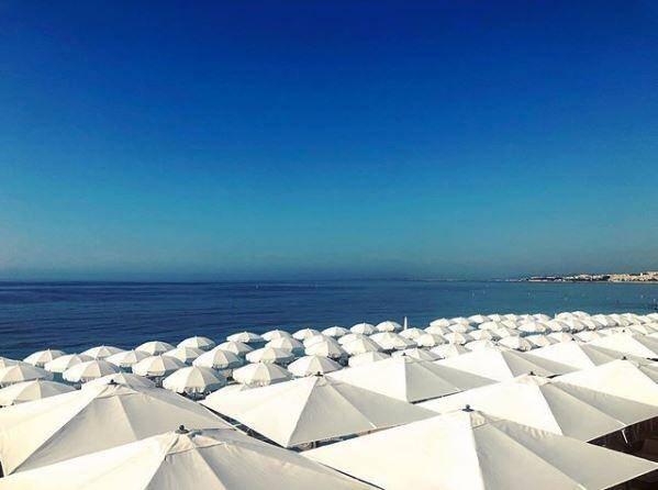 Une vue de Sporting Plage à Nice.