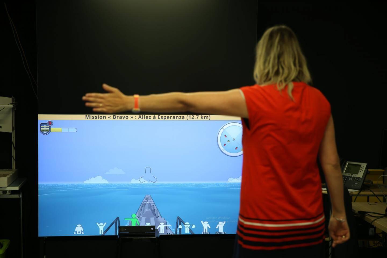 X-torp,  un jeu vidéo thérapeutique qui aide le patient à lutter contre les effets de la maladie d'Alzheimer.
