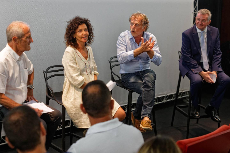 Toulon le 26 Aug 2019. Photographie Dominique LericheConférence de presse Liberté plage
