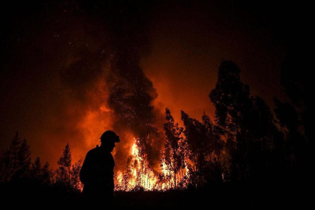Incendie de forêt à Macao au Portugal le 21 juillet 2019